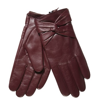 Kožené dámské rukavice bata, červená, 904-5109 - 13