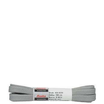 Šedé široké tkaničky 100 cm bata, šedá, 901-2102 - 13