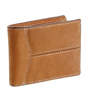 Pánská kožená peněženka s prošíváním bata, hnědá, 944-3146 - 13