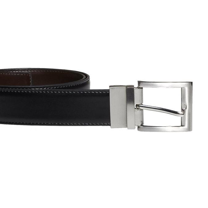 Pánský kožený opasek bata, černá, 954-6122 - 26