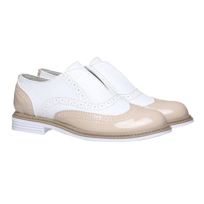 Dětské polobotky ve stylu Spectator shoes mini-b, béžová, 321-5178 - 26