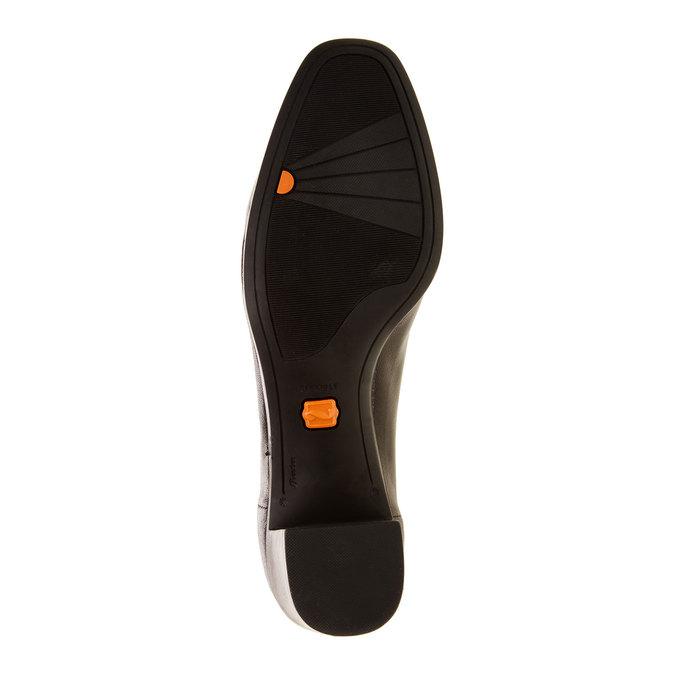Dámské kožené lodičky flexible, černá, 624-6706 - 26