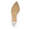 Bílé kožené lodičky bata, bílá, 624-1630 - 26