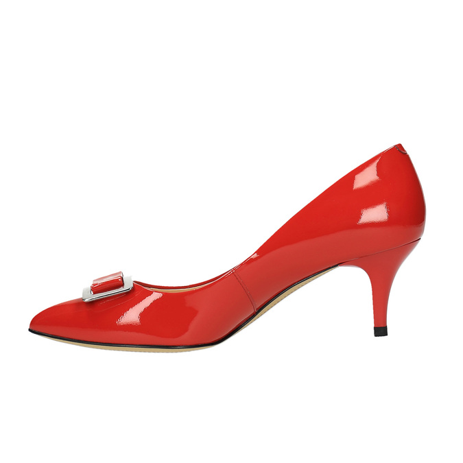 Dámské červené kožené lodičky bata, červená, 628-5630 - 26