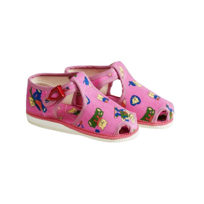 Dětská domácí obuv bata, růžová, 179-5210 - 26