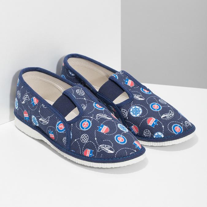 Modré dětské přezůvky se vzorem bata, modrá, 379-9012 - 26