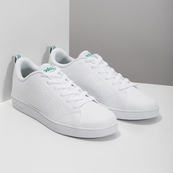 Bílé tenisky se zelenými detaily adidas, bílá, 501-1300 - 26