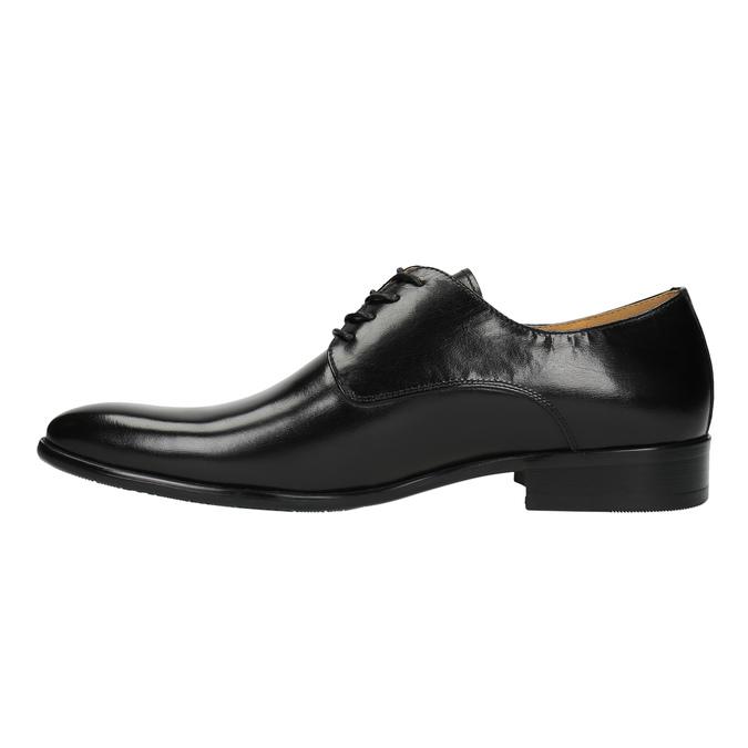 Pánské kožené polobotky bata, černá, 824-6648 - 26