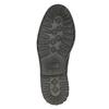 Kožené polobotky s výraznou podešví bata, černá, 826-6641 - 26