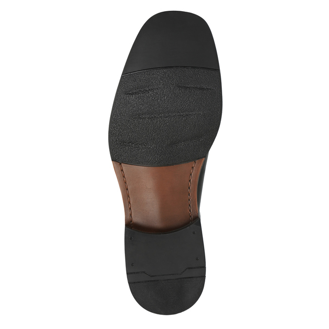 Pánské kožené polobotky bata, černá, 824-6655 - 26