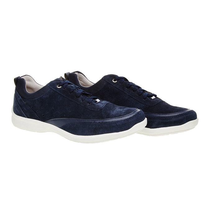 Ležérní kožené tenisky comfit, modrá, 843-9643 - 26