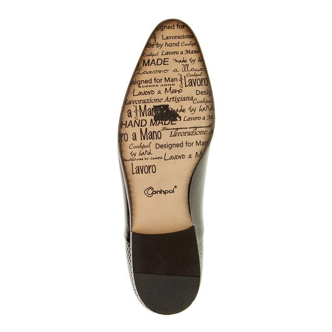 Kožené polobotky v Oxford střihu conhpol, černá, 824-6703 - 26