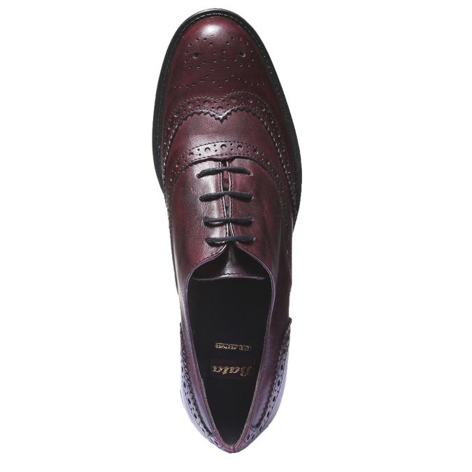 Kožené oxfordky s brogue zdobením bata, 2019-524-5185 - 19