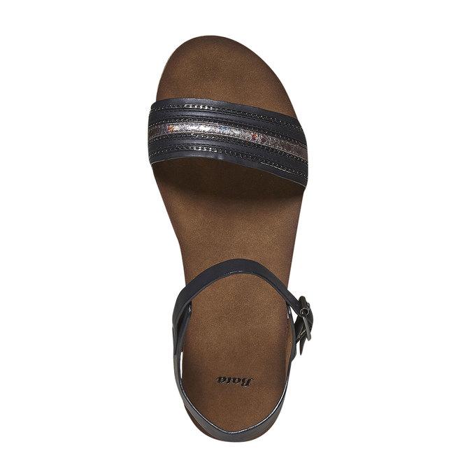 Dámské sandály na výrazné podešvi bata, černá, 561-6404 - 19