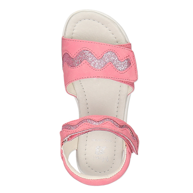 Růžové sandály na suché zipy mini-b, růžová, 261-5159 - 19