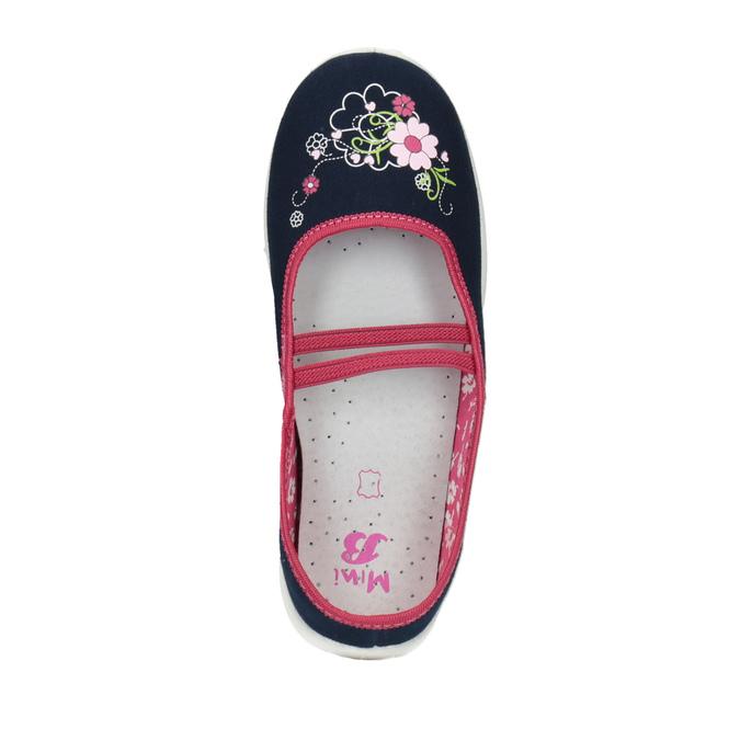 Dětská domácí obuv mini-b, modrá, 379-9208 - 19
