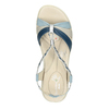 Dámské kožené sandály bata-touch-me, modrá, 564-9353 - 19