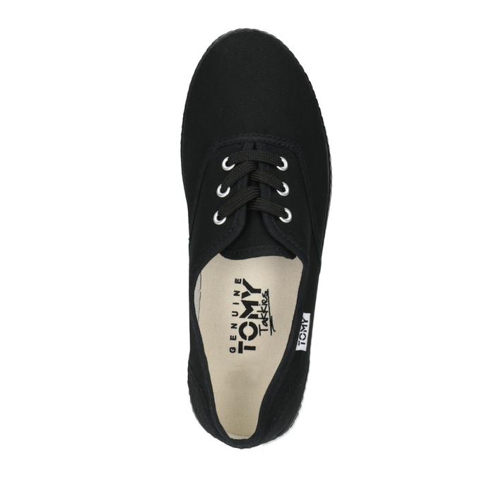 Černé textilní tenisky tomy-takkies, černá, 519-6691 - 19