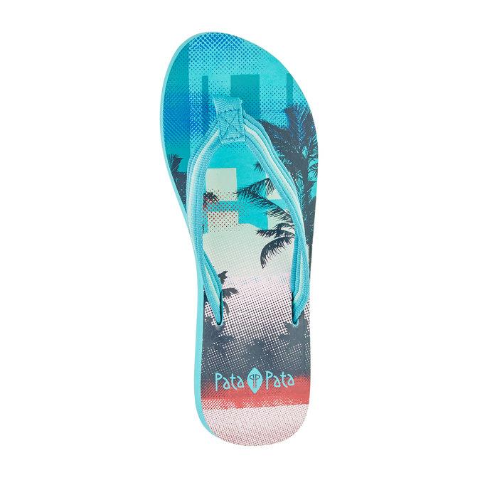 Dámské žabky pata-pata, modrá, 2019-581-9600 - 19
