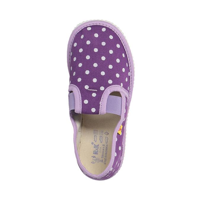 Dětská domácí obuv s puntíky bata, fialová, 279-9103 - 19