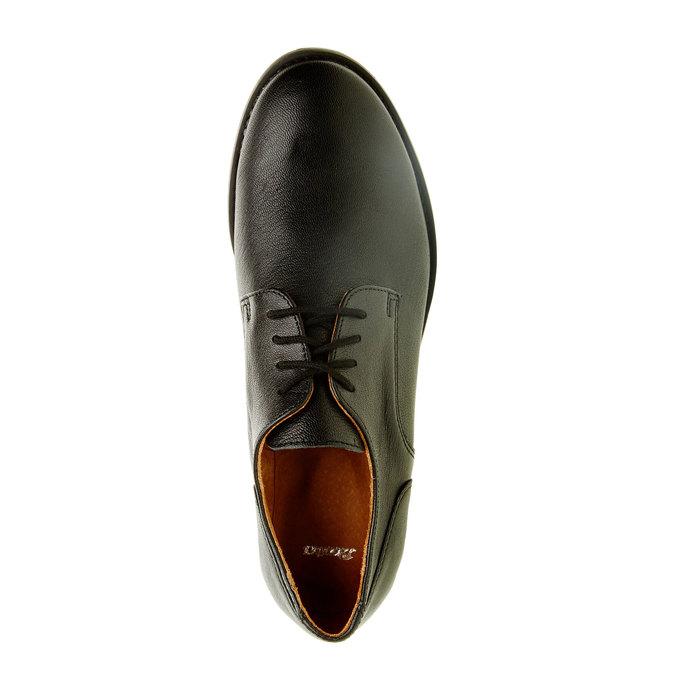 Dámské kožené polobotky bata, černá, 524-6117 - 19