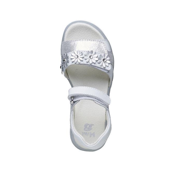 Bílé kožené sandály mini-b, bílá, 264-1163 - 19