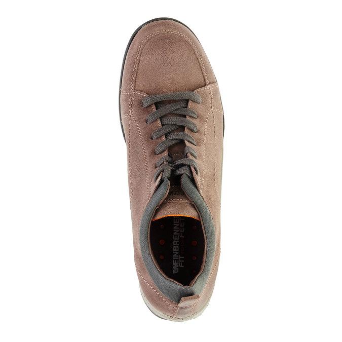 Kožené ležérní tenisky bata, hnědá, 843-3386 - 19