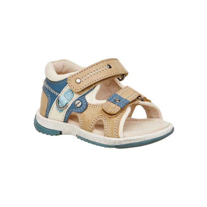 Dětské sandály mini-b, hnědá, 161-3100 - 13