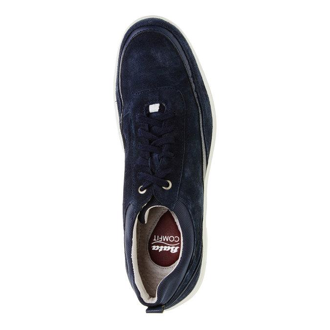 Ležérní kožené tenisky comfit, modrá, 843-9643 - 19