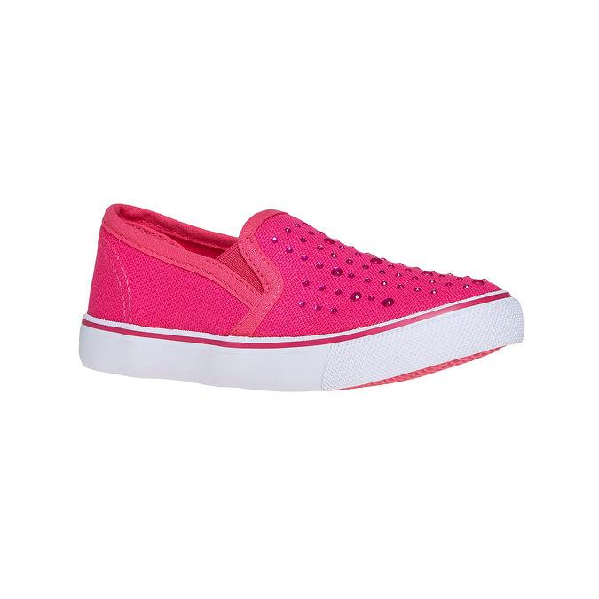 Růžové Slip on boty s kamínky mini-b, růžová, 2019-229-5148 - 13