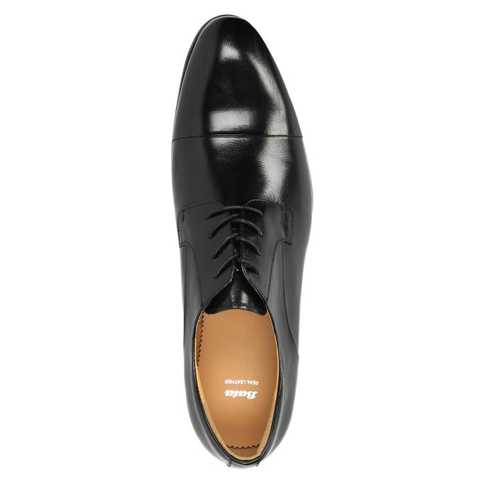 Kožené polobotky v Derby střihu bata, černá, 824-6652 - 19