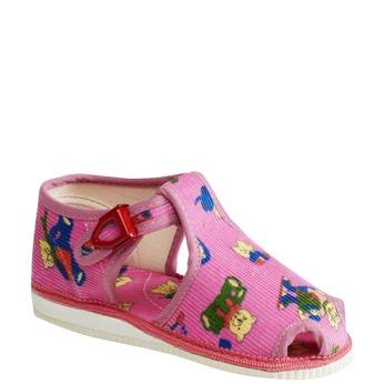 Dětská domácí obuv bata, růžová, 179-5210 - 13