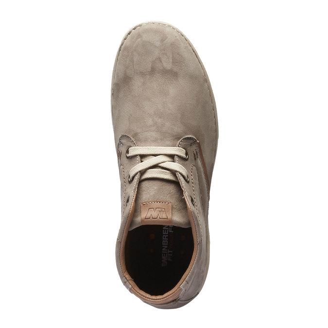 Kožená kotníčková obuv weinbrenner, béžová, 896-2442 - 19
