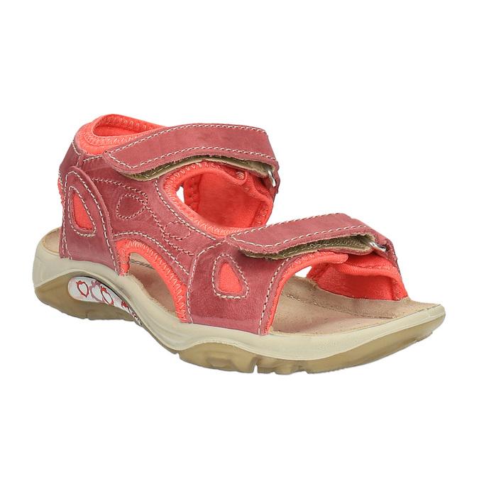 Dětské kožené sandály weinbrenner-junior, oranžová, 366-5170 - 13