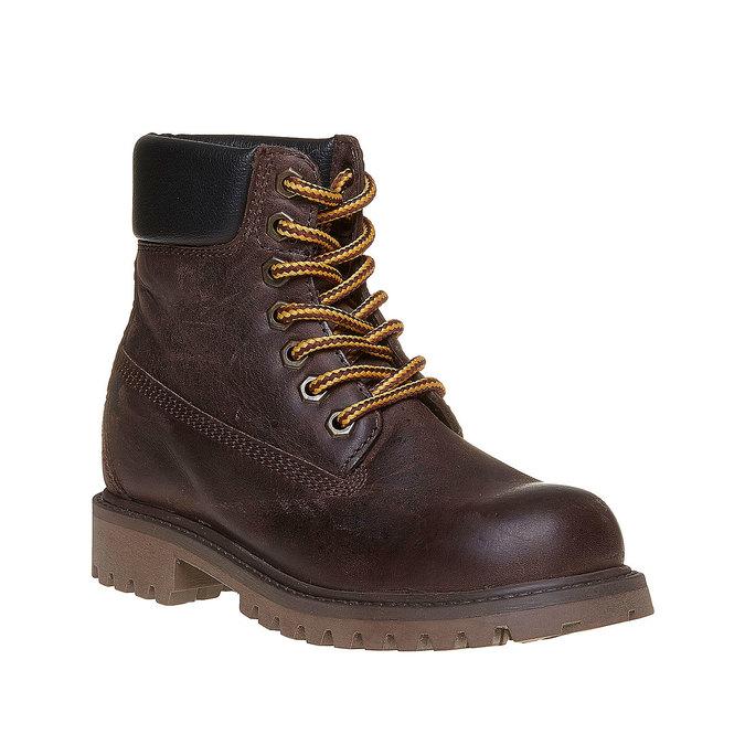 Dětská kožená zimní obuv weinbrenner-junior, hnědá, 394-4182 - 13