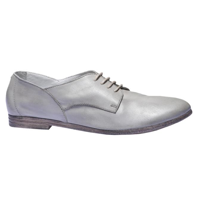 Kožené polobotky bata, šedá, 524-2169 - 13