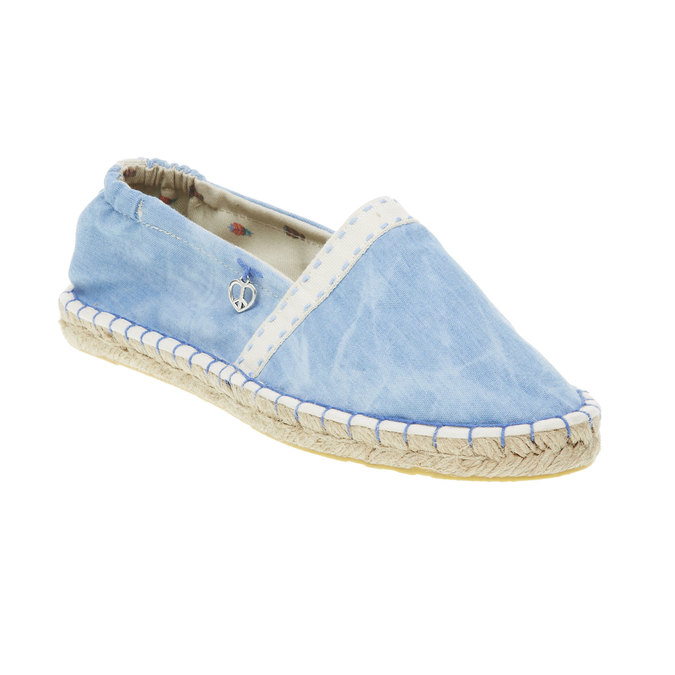 Dámská obuv typu Espadrilles bata, modrá, 2019-559-9420 - 13