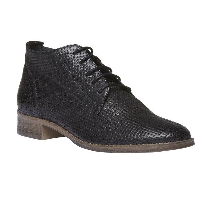 Dámské kožené kotníčkové boty bata, černá, 524-6468 - 13
