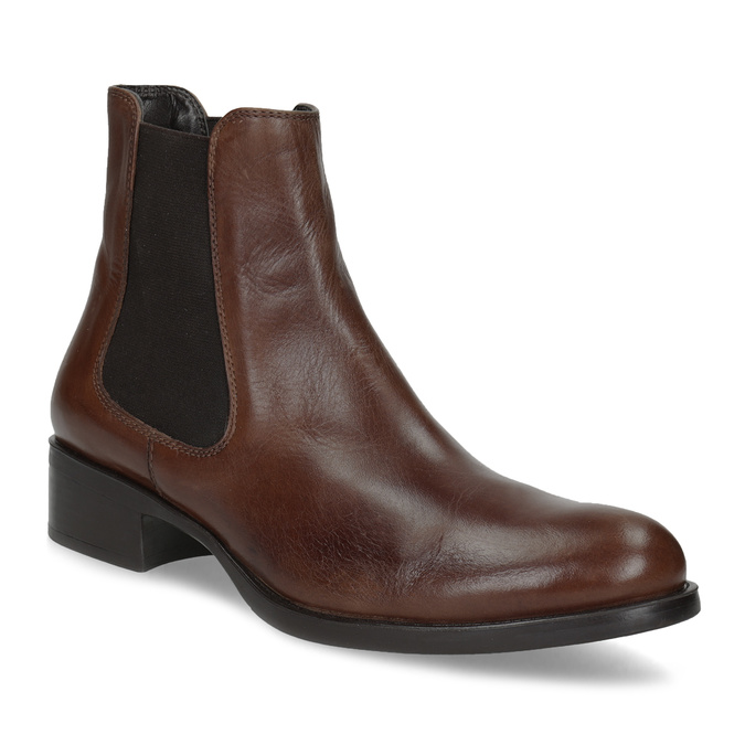 Kožená Chelsea obuv bata, hnědá, 594-4448 - 13