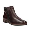 Kožená kotníčková obuv se zipy bata, červená, 596-5605 - 13