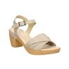 Kožené sandály na nízkém podpatku bata-touch-me, béžová, 666-8203 - 13
