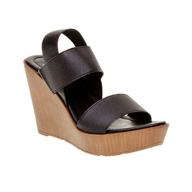 Dámské černé sandály na platformě bata, 2019-761-6300 - 13