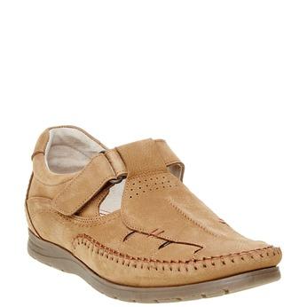 Pánské kožené sandály comfit, hnědá, 866-3184 - 13