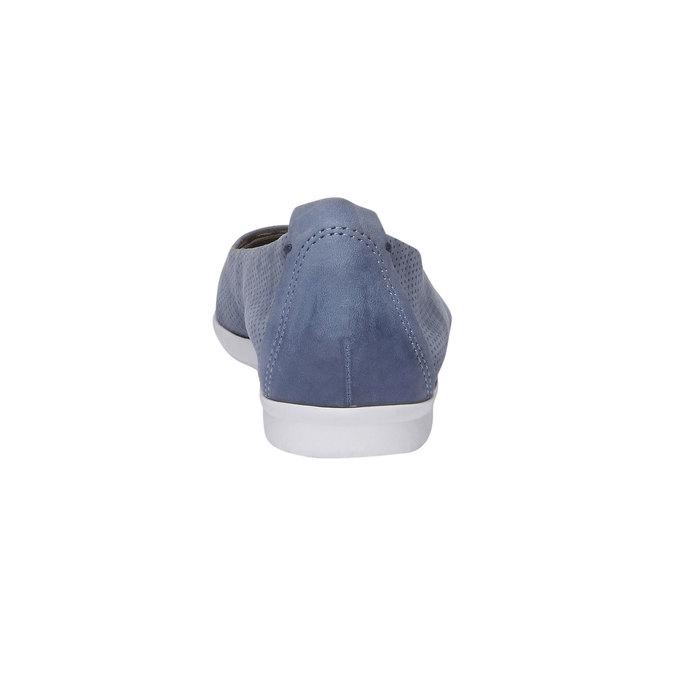 Kožené baleríny s perforací bata, modrá, 526-9486 - 17