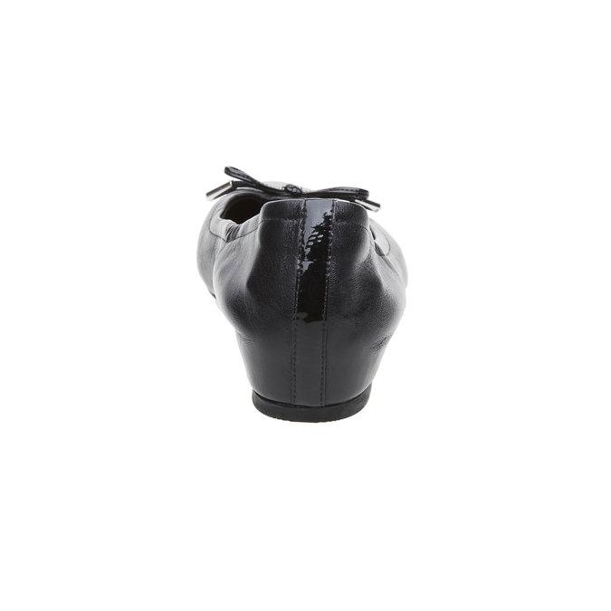 Černé kožené baleríny rockport, černá, 524-6121 - 17