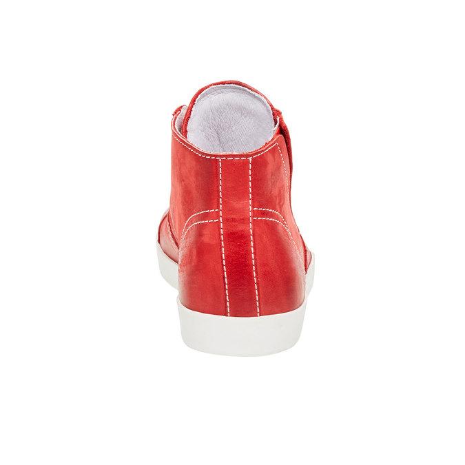 Kožené kotníčkové tenisky bata, červená, 524-5310 - 17