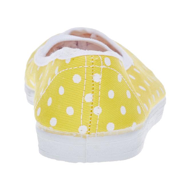 Cvičky s puntíky bata, žlutá, 379-8103 - 17