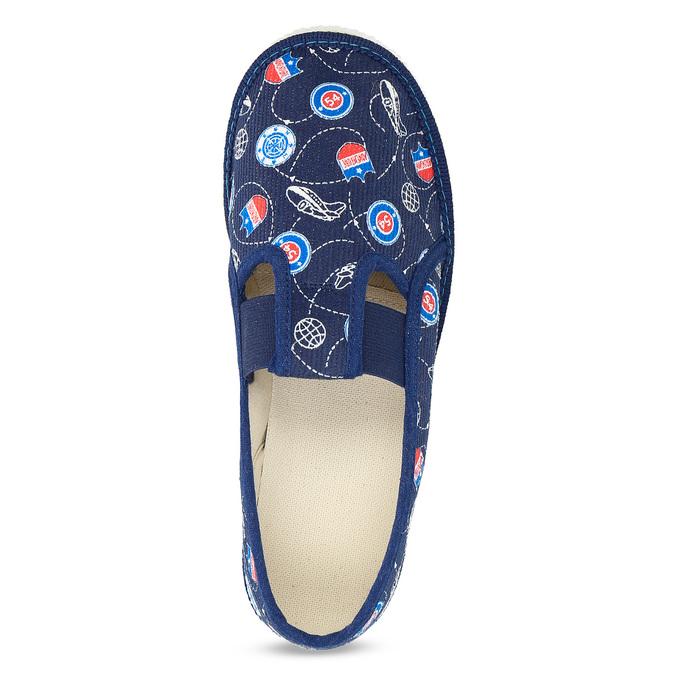Dětské pantofle bata, modrá, 379-9012 - 17