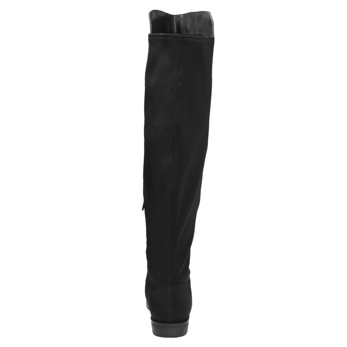 Dámské kozačky nad kolena bata, černá, 591-6604 - 17