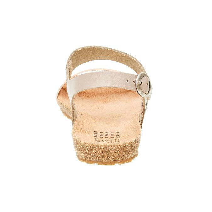 Kožené sandály s perforovaným páskem tbs-, béžová, 564-3012 - 17